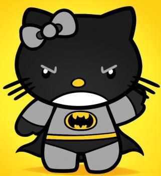 How to Draw Batman Hello Kitty, Step by Step, Characters, Pop Culture, FREE Online Drawing Tutorial, Added by Dawn, March 8, 2012, 6:57:15 am