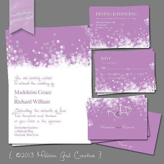 DIY Printable Wedding Invitations By Melissa Gail Creative