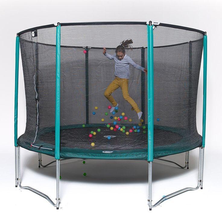 Trampolin Jump'Up 250 mit Netz und Leiter für Privatgebrauch. https://trampolin-technik.de/de/12-freizeit-trampoline