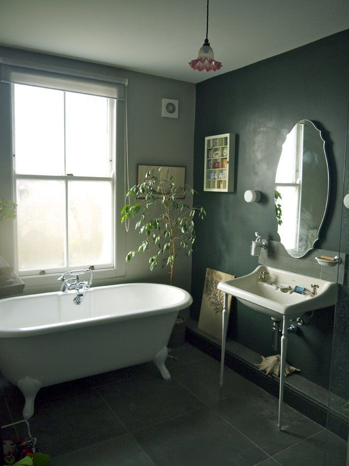 Our favorite bathrooms house tours wall accents and for Green bathroom paint colors