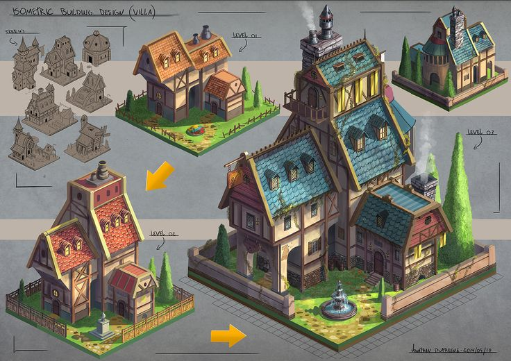 Isometric Design, jonathan dufresne on ArtStation at http://www.artstation.com/artwork/isometric-design