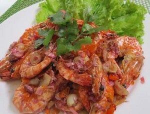 Resep Seafood: Udang Goreng Kecombrang