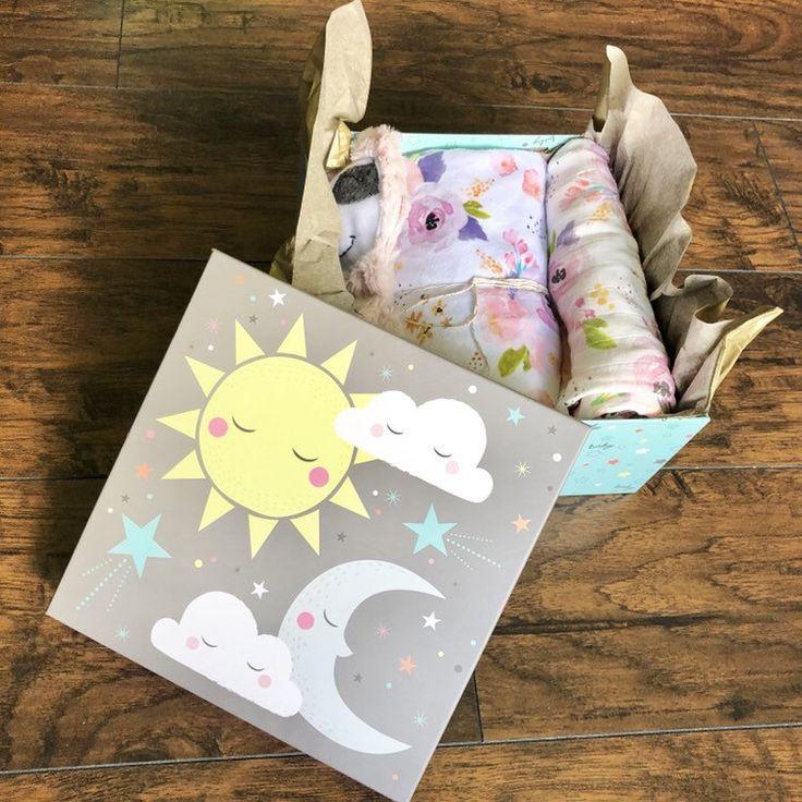 Baby gender reveal gift box baby blanket baby shower gift