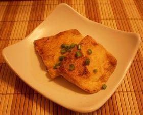 ☆簡単♪油揚げの鮭フレーク詰め焼き☆