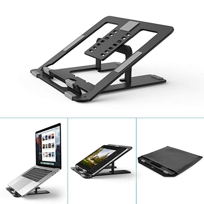 Foldable Laptop Stand Holder Klearlook 7 Adjustable Height And