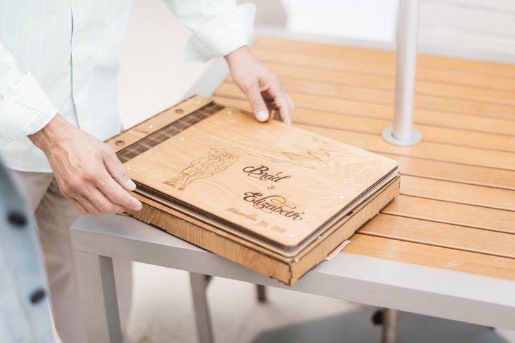 Wood Hinged Photo Book