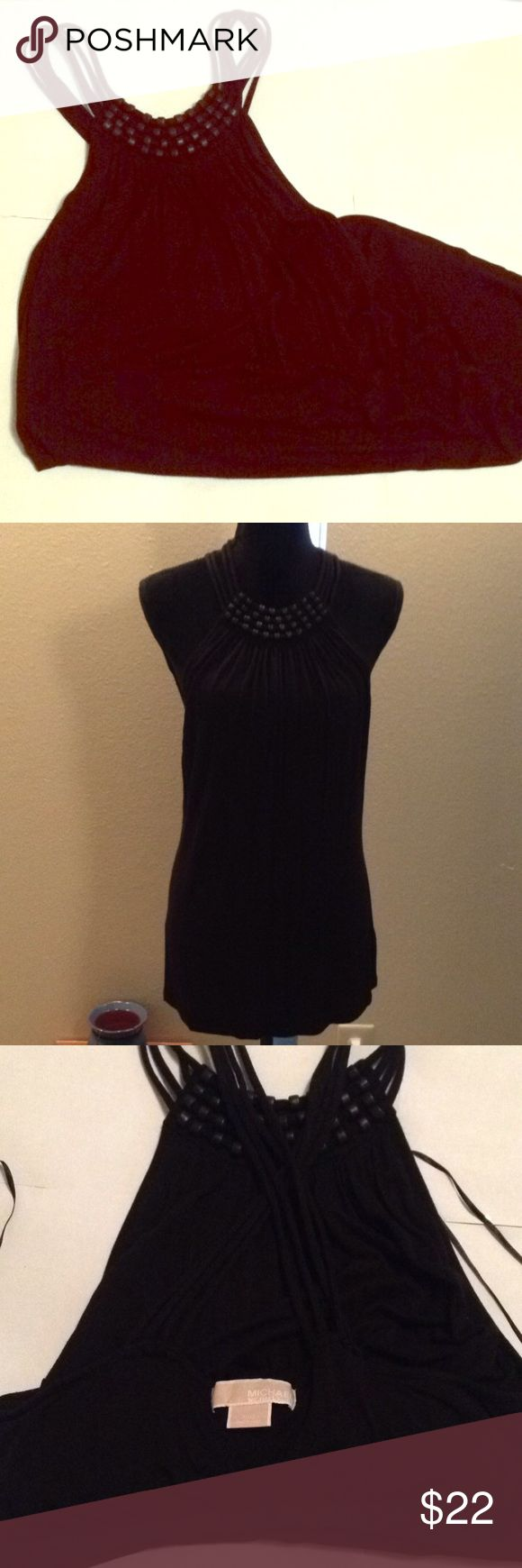 🆑 MK criss-cross top Beaded top with a built in bra top in great condition MICHAEL Michael Kors Tops Blouses