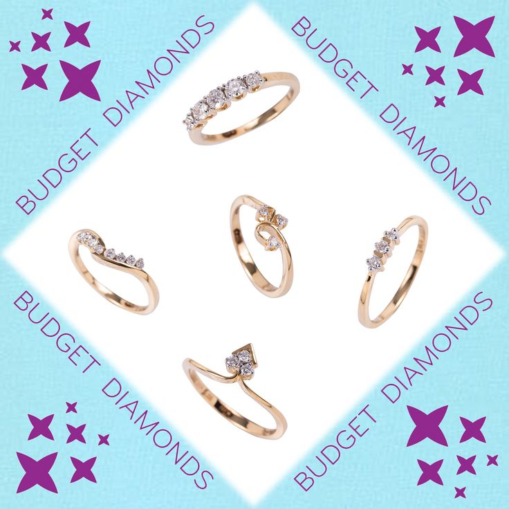 ur stunning collection of all-certified brilliant-cut diamond-set jewellery in fabulous designs that suit every pocket.  C'mon, demand a diamond --- TODAY.  Prices from Left to Right clockwise  1. Rs. 19,300/- 2. Rs.30,500/- 3. Rs.15,000/- 4. Rs. 14,200/-  Center Ring 5. Rs.11,900/-