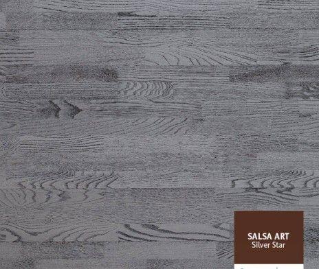 Colectia de Parchet Argintiu Triplu Stratificat cu inspiratie artistica Salsa Art combina lemnul si ultimele progrese in prelucrarea texturii parchetului, permitandu-ne sa vă aoferim cel mai original parchet.