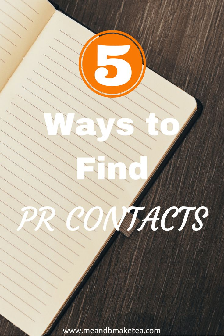 Want to find PR contacts online? Take a look at these blogging tips and tricks. 5 Ways to Find PR Contacts. I've been employed for 15 years now, starting out in sales and moving over to marketing. As part of both business areas, it has been super useful t
