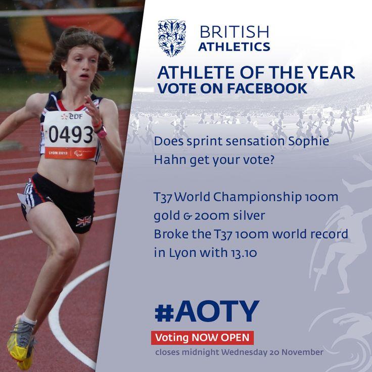 Sprint sensation Sophie Hahn