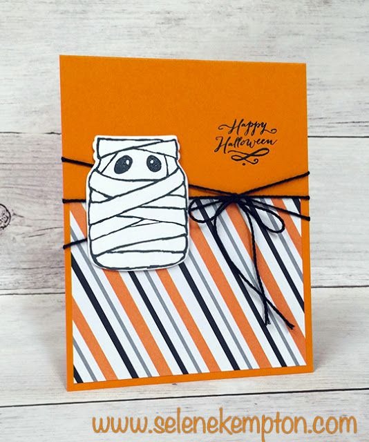 Sneak Peek, Stampin' Up! Jar of Haunts, Happy Halloween Mummy Jar Card