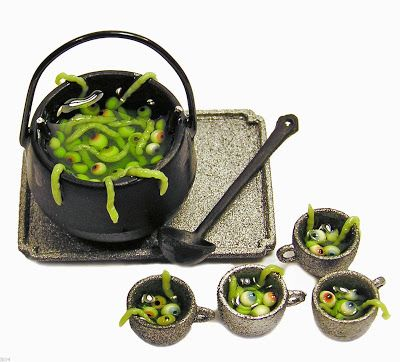 The Mini Food Blog: Halloween by Kiva Atkinson, IMHO the best miniature food artist working.