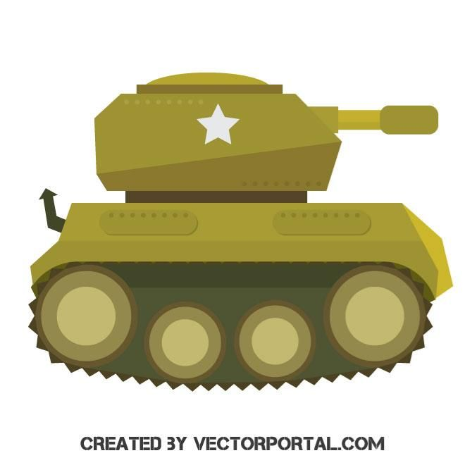 52295c868414f World War 2 Tank vector image