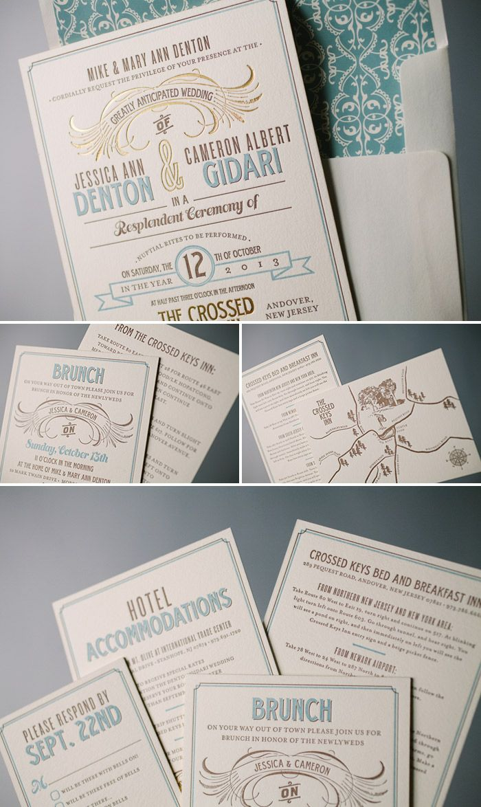 104 Best Vintage Wedding Invitations Images On Pinterest Retro