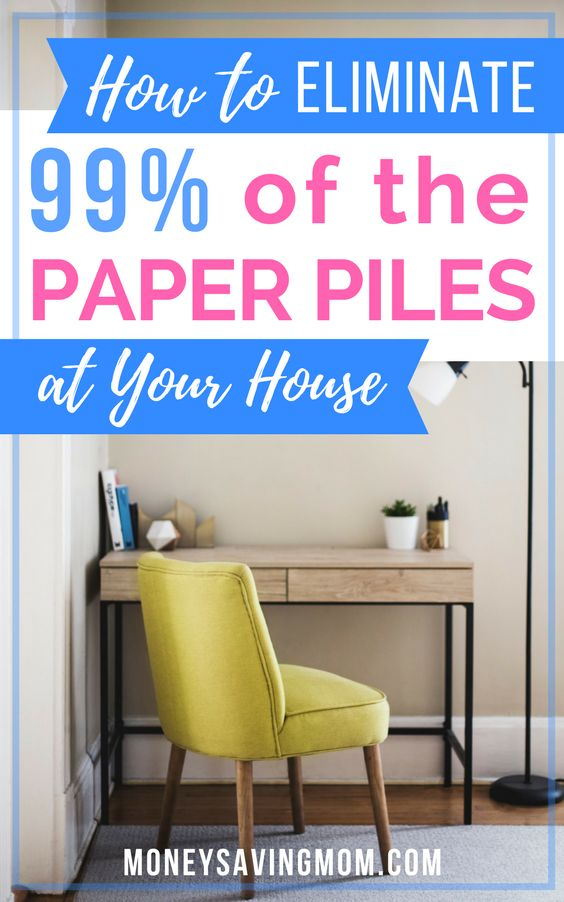 Sick of the clutter? This is a MUST-read article on how to eliminate almost all of the paper piles in your home! And it's SO simple!!