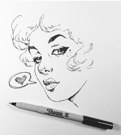 Pin Up Girl Drawings Tumblr Pin up girl drawing