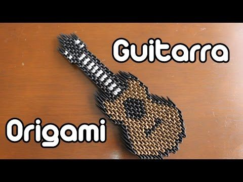 Guitarra De Origami / Guitar Origami TUTORIAL! - YouTube