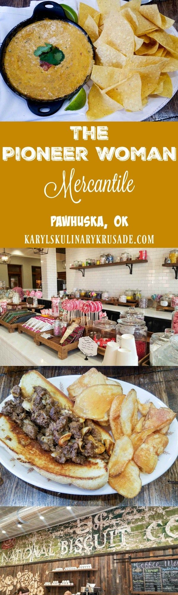 The Pioneer Woman Mercantile in Pawhuska OK is a little bit of everything...General Store, Deli, and Bakery. Arrive early to check it all out, bring your appetite, and make sure you leave room for your sweet tooth!