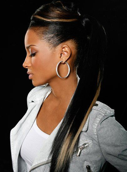 Ciara is rocking this hairstyle. I want to try this with another client.