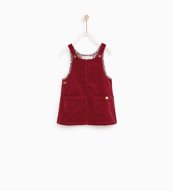 BASIC CORDUROY PINAFORE DRESS - Available in more colours