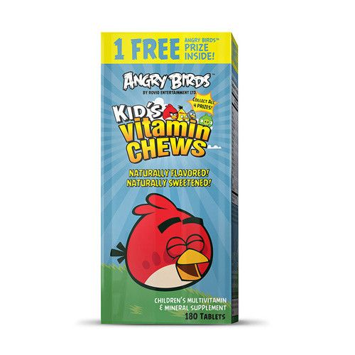 Natrol Vitamins Kids Chewable Angry Birds 180 Tablets