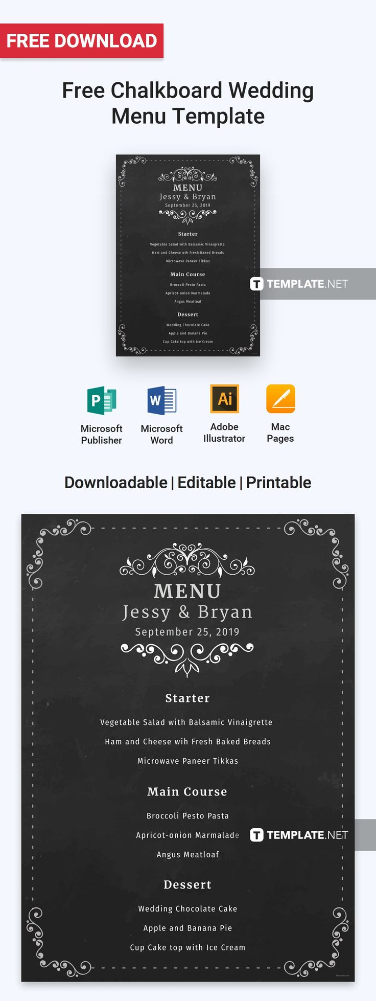Menu Templates Free Microsoft Adorable 12 Best Free Menu Templates Images On Pinterest