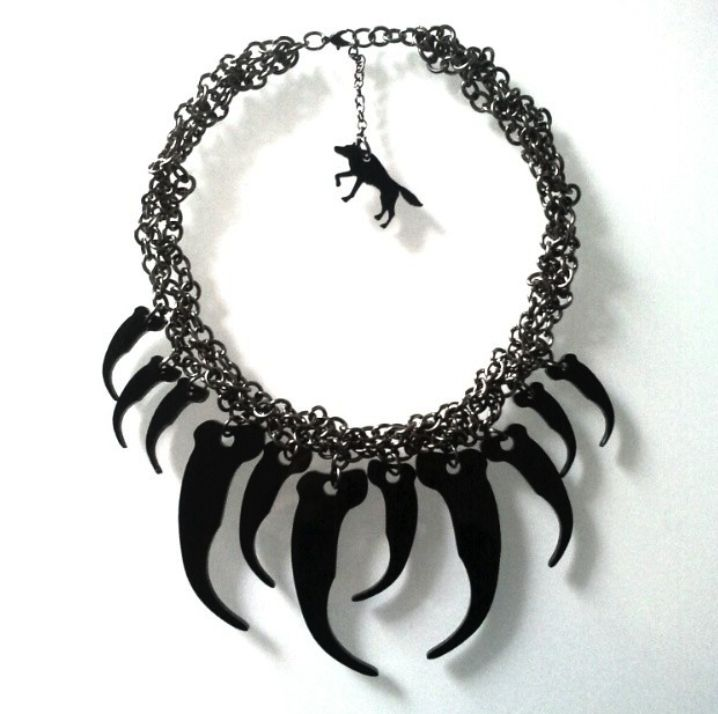 WOOLVES - Black Claws Necklace