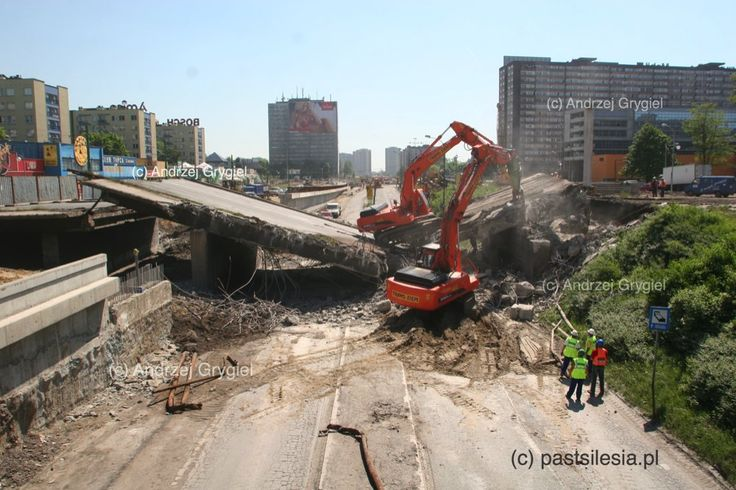 pastsilesia: Wiadukt na Sokolskiej (Katowice, 2005 r.)