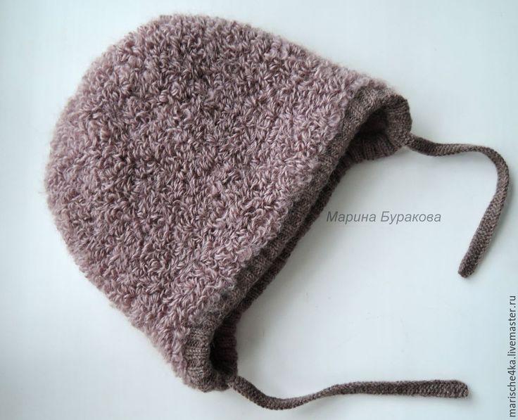 Купить Шапочка коричневая - коричневый, шапка, шапка вязаная, шапка детская, шапка для мальчика