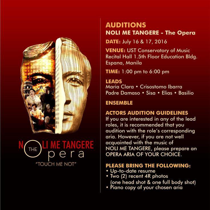 NOLI ME TANGERE | THE Opera