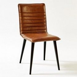 silla retro Leather