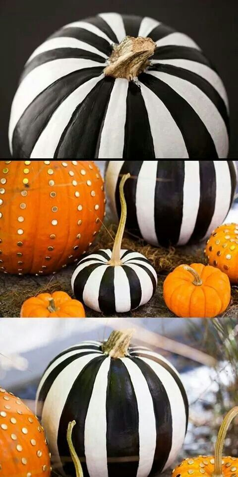 thumb tacks and tim burton esq pumpkins
