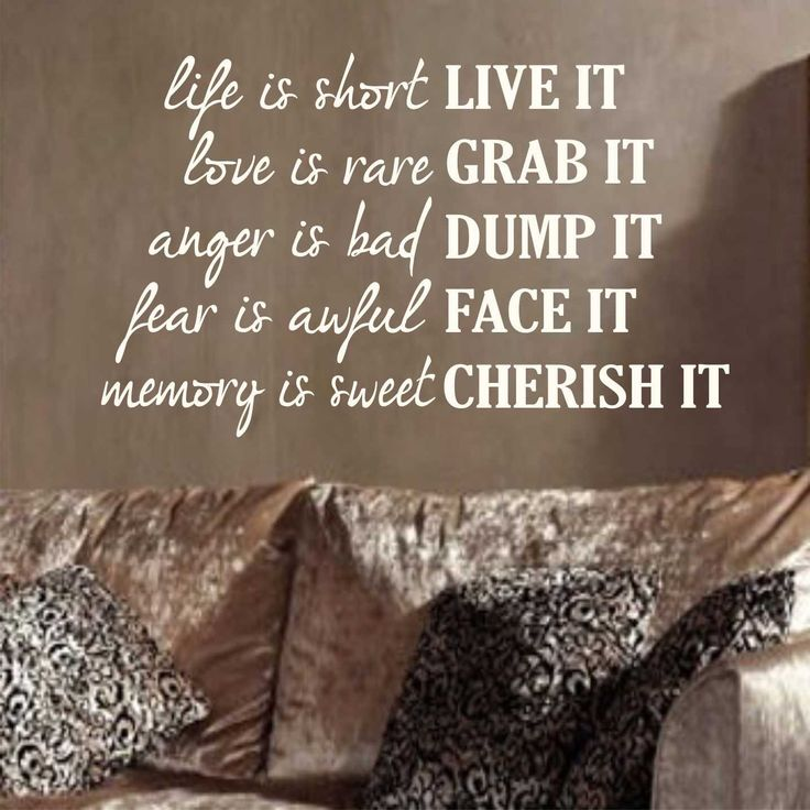 Vinyl Wall Lettering Live It Grab It Dump It Face It Cherish It Motivational Quote Decal