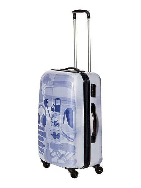 X Ray colour 4 wheel hard medium suitcase @houseoffraser #Alliwantforchristmasfromhof