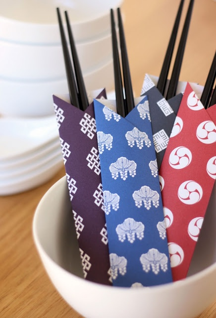 Chopstick Wrappers | A Spoonful of Sugar