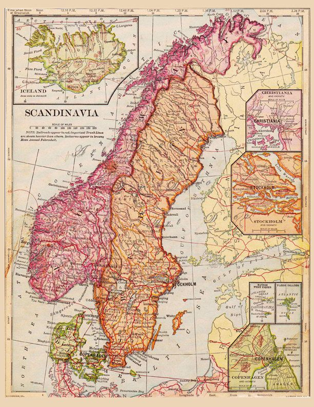 map of Finland Sweden Norway and Iceland