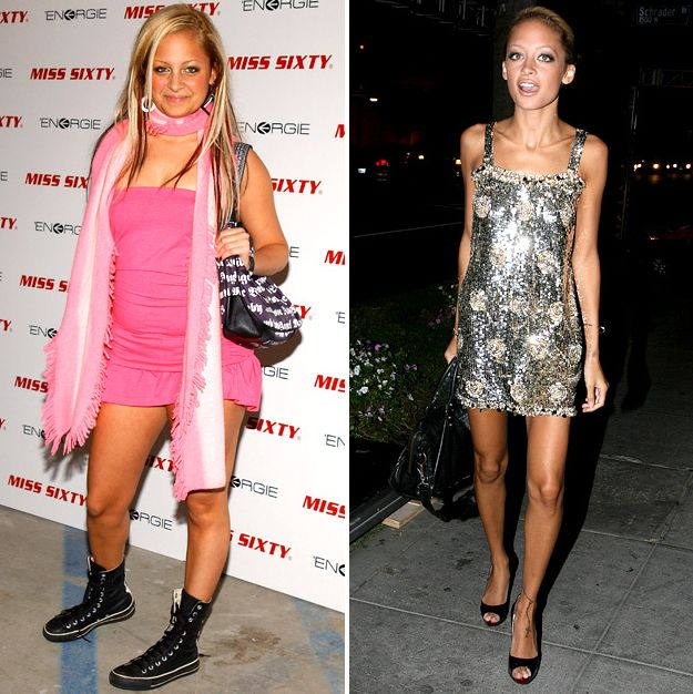 Thigh Gap: Reminder why I want to keep mine #7: You appear taller. Case in point: Nicole Ritchie: Before and after returning to a decent weight. Less fat and less width tends to do make you look taller.