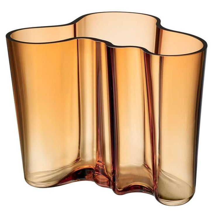 """This mouth-blown lead crystal vase has long been an Iittala best seller but Alvar Aalto himself never saw a cent of the profits. The design rights remained with Iittala whose Karhula-Iittala glassworks factory ran the original design competition that inspired it. In 1937 Aalto anonymously entered his Savoy Vase in the Paris Worlds Fair under the pseudonym """"Eskimo Woman's Leather Breeches"""" and won. With a name like that they were hardly going to award it to anything else. ...read more…"""