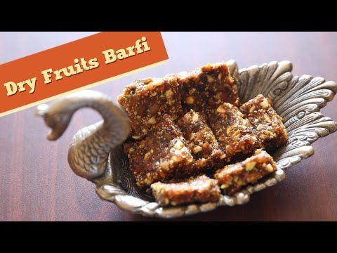 Holi Special - Dry Fruits Barfi - Sugarfree Sweet Dish Recipe - Divine T...