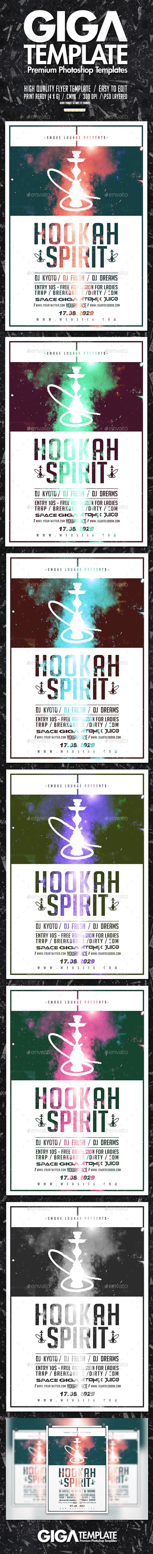 Hookah Spirit   Dope Style Chill Minimal Flyer Template PSD. Download here: https://graphicriver.net/item/hookah-spirit-dope-style-chill-minimal-flyer-psd-template/17492968?ref=ksioks