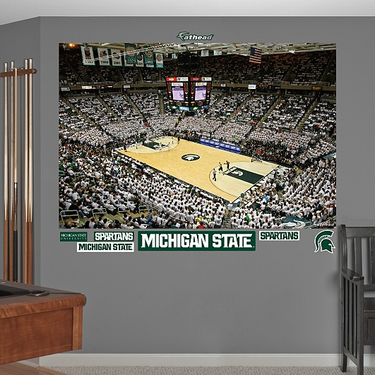 Michigan State Spartans Basketball Mural - Breslin Center