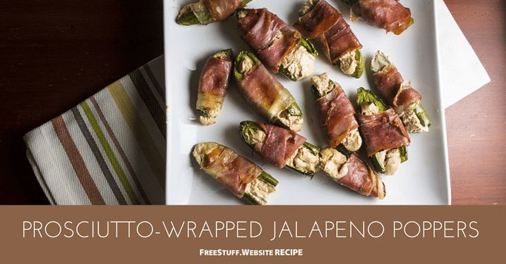Baked Prosciutto-Wrapped Jalapeno Poppers