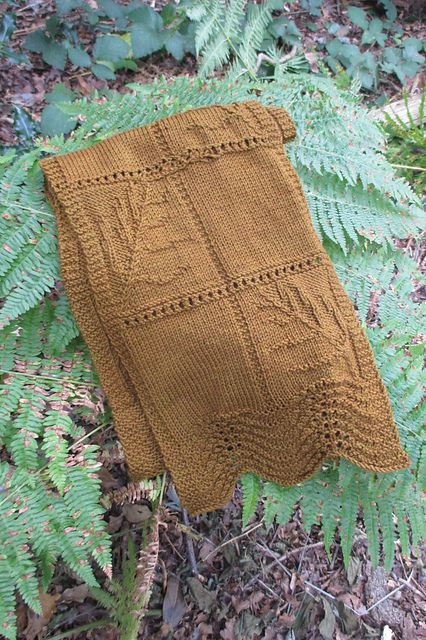 Ravelry: Fossilised ferns keyhole scarf pattern by Kirsten McTeer