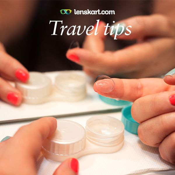 Summer tip for contact wearers: The sun is up and it is the time to travel! Pack your lenses and go around the world. Remember to keep your contact lenses away from water to avoid eye infection and always use sterile contact lens solution.