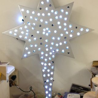 The 67 best christmas lights outside images on pinterest christmas how to quickly create a lighted christmas star mozeypictures Choice Image
