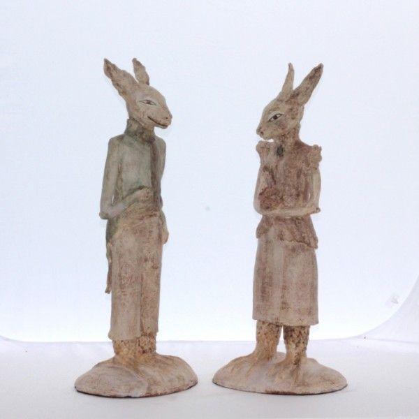 Bronwynne Cornish 'Monsieur & Madam Lapin' (ceramic)