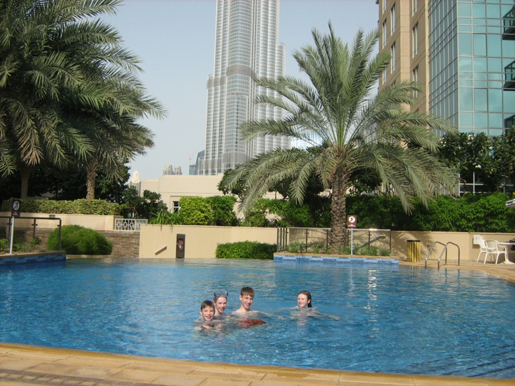 Our pool at the Burj Residence No. 5. |Pinned from PinTo for iPad|