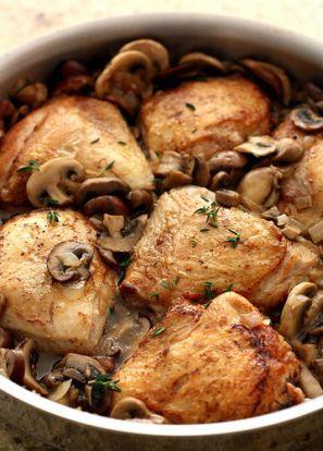 Pulpe de pui cu ciuperci