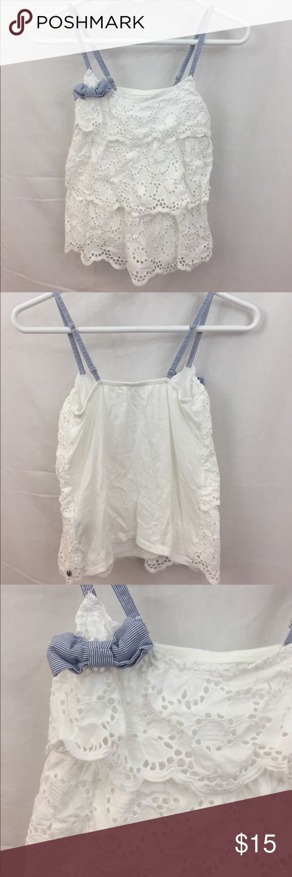 • Abercrombie & Fitch Lace Tank Top • Beautiful 3 layer lace tank top with blue bow! Super cute for summer! Like new, no rips or stains! Abercrombie & Fitch Tops Tank Tops